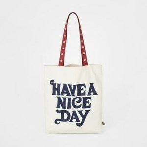 JUNK FOOD CLOTHING Have A Nice Day Tote NWT